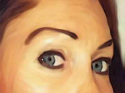 Portrait Study Mixed Media - Doubt by Dennis Buckman