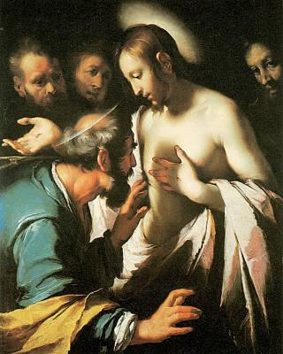 Doubt Painting - Doubting Thomas by Bernardo strozzi