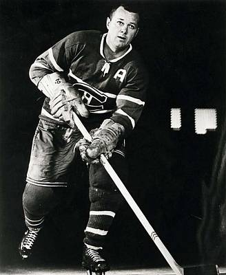 Montreal Canadiens Photograph - Doug Harvey Poster by Gianfranco Weiss