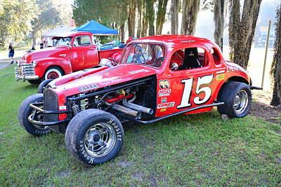 Photograph - Doug Lecornu Antique Race Car by John Black