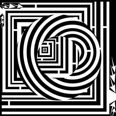 Donuts Drawing - Doughnut Maze by Yonatan Frimer Maze Artist
