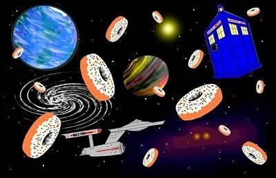 Doughnuts In Space Art Print
