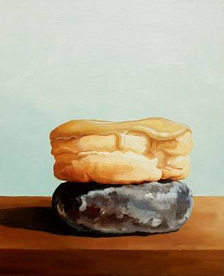 Donuts Painting - Doughnuts by Josephine Czech