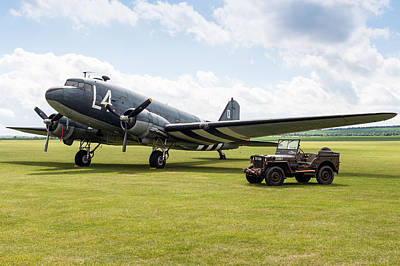 Photograph - Douglas C-47a Skytrain Ready For D-day by Gary Eason