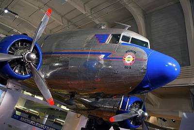 Passenger Plane Photograph - Douglas Dc-3 Aircraft by Jim West