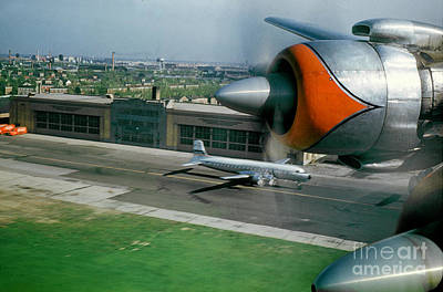 Douglas Dc-7 Taking Off Art Print by Wernher Krutein