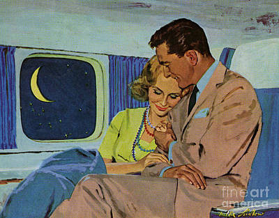 The Sixties Drawing - Douglas Dc-8  1960s Uk Aeroplanes by The Advertising Archives