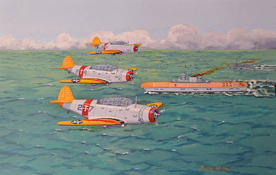 Print featuring the painting Douglas Devastators by Murray McLeod