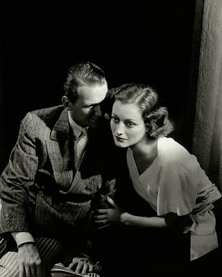Young Man Photograph - Douglas Fairbanks Jr. And Joan Crawford by Edward Steichen