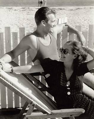 Douglas Fairbanks Jr. With Joan Crawford Art Print