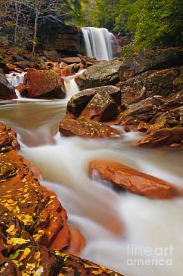 Monongahela National Forest Photograph - Douglas Falls D300_07688 by Kevin Funk