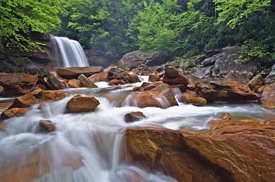 West Virginia Landscape Photograph - Douglas Falls Spring Rush by Joseph Rossbach