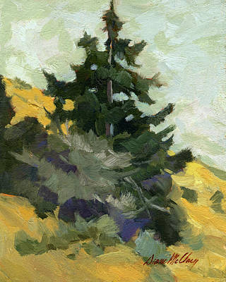 Painting - Douglas Fir In Washington by Diane McClary