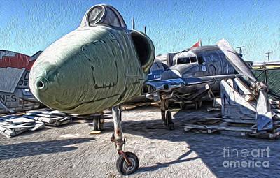 Douglas Skyhawk A-4b Art Print by Gregory Dyer