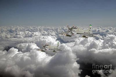 Uss Midway Digital Art - Douglas Skyraider by J Biggadike