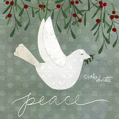 Peace Doves Painting - Dove by Katie Doucette