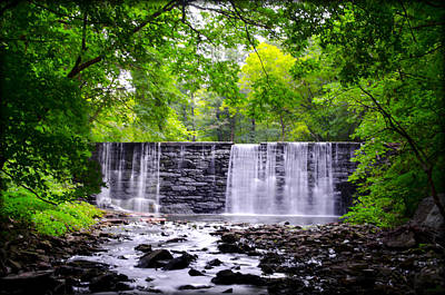 Dove Lake Waterfall At Gladwyne Art Print by Bill Cannon