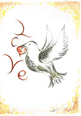 Carrier Mixed Media - Dove Of Love by Teresa White