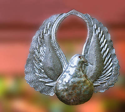 Photograph - Garden Dove Of Peace Sculpture by Ginger Wakem