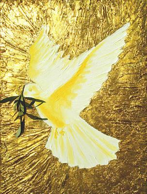Painting - Dove by Sandra Yegiazaryan