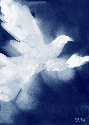 In Flight Painting - Dove Watercolor Painting Of Birds by Beverly Brown Prints