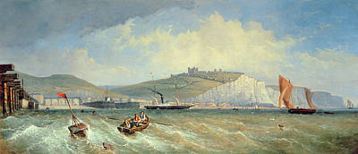 White Cliffs Of Dover Painting - Dover, 19th Century by William Henry Prior