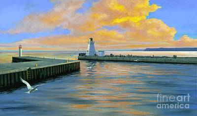 Dover Evening Art Print by Michael Swanson
