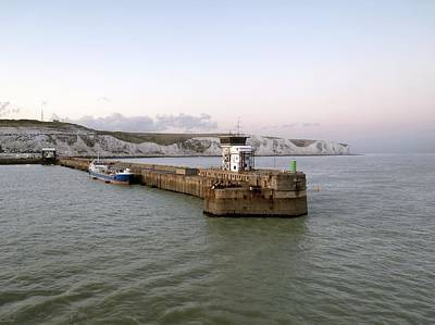 Port Kent Photograph - Dover Harbour, Uk by Science Photo Library