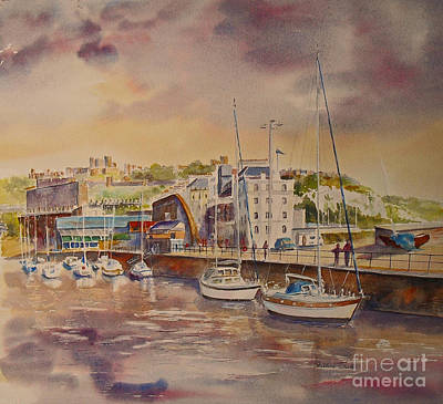 Painting - Dover Marina In Uk by Beatrice Cloake