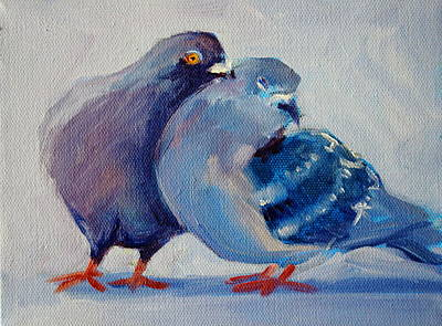 Painting - Doves by Nancy Merkle