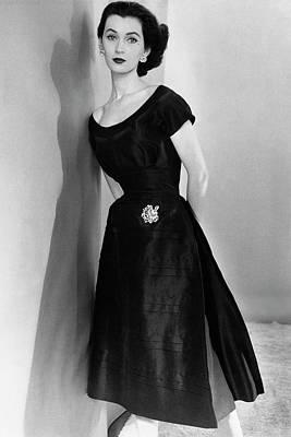 Photograph - Dovima Wearing A Larry Aldrich Dress by Horst P. Horst