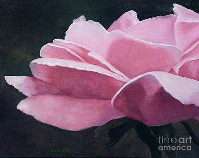 Dow Garden Rose Print by Vickie Sue Cheek