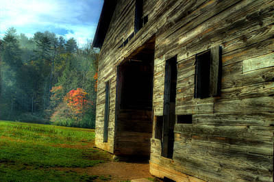 Barn In Woods Photograph - Down By The Barn by Michael Eingle
