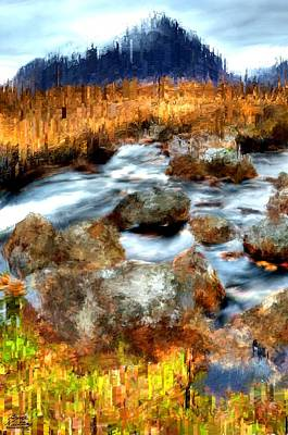 Stream Painting - Down By The Brook by Bruce Nutting