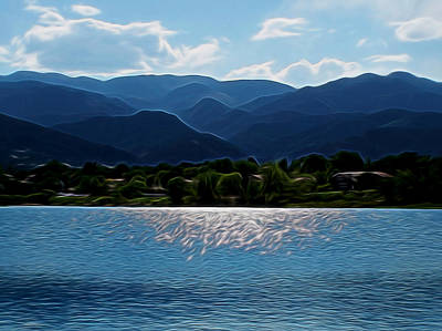 Rocky Digital Art - Down By The Lake Digital Art by Ernie Echols