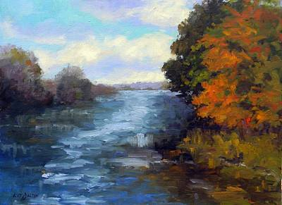 Refection Painting - Down By The River II by Kit Dalton