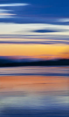 Sunset Abstract Photograph - Down By The River by Theresa Tahara