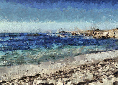 Mixed Media - Down By The Sea 1 by Angelina Vick