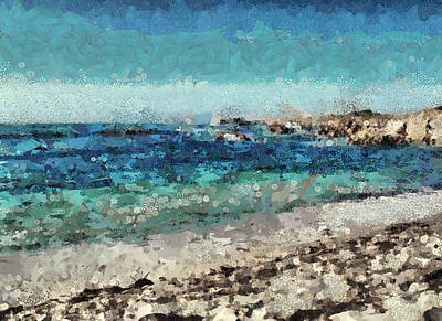Mixed Media - Down By The Sea 2 by Angelina Vick