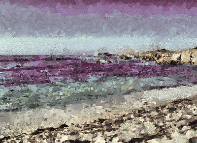 Mixed Media - Down By The Sea 3 by Angelina Vick