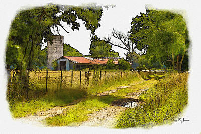 Photograph - Down Country Roads by Barry Jones