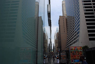 Photograph - Down E 43rd Street N Y C by John Schneider