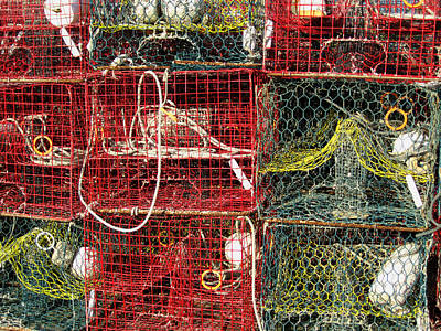 Down East Crab Pots Art Print