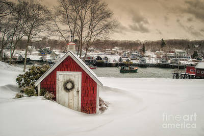 Coastal Maine Photograph - Down East Seasons Greetings by Scott Thorp