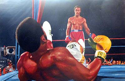 Painting - Down Goes Frazier by Michael Swanson