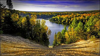 Autumn Photograph - Down Hill Into Fall by LeeAnn McLaneGoetz McLaneGoetzStudioLLCcom