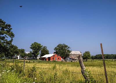 Ethridge Photograph - Down Home Amish Farm by Kathy Clark