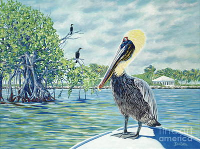 Sea Birds Painting - Down In The Keys by Danielle  Perry
