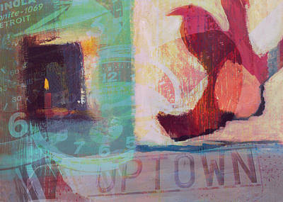 Digital Art - Down In Uptown by Susan Stone