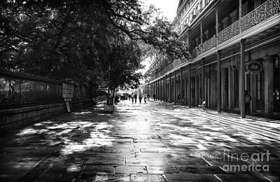 Photograph - Down Jackson Square Mono by John Rizzuto
